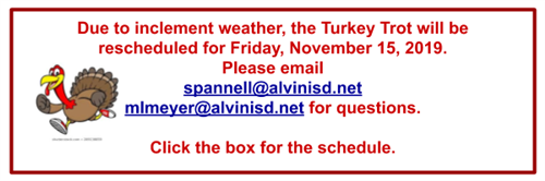 Turkey Trot Reschedule