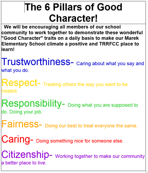 6 Pillars of Good Character