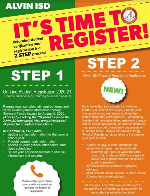 time to register
