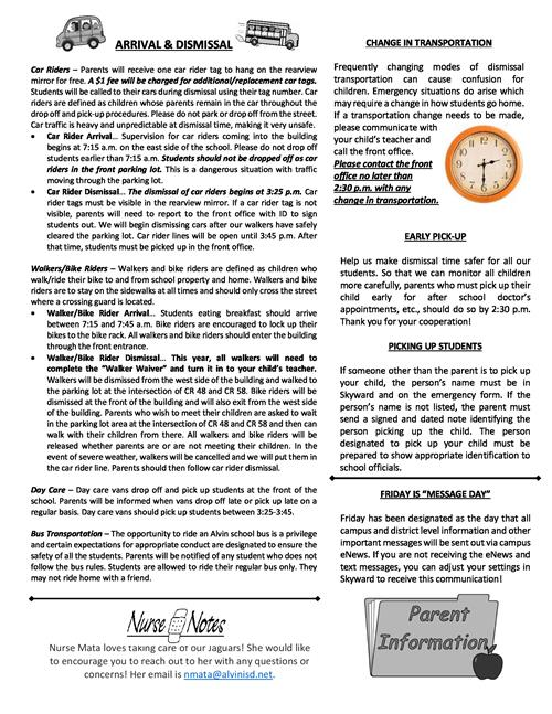 358a936825 Parent Resources   Back to School Newsletter