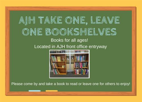 AJH take one, leave one bookshelves
