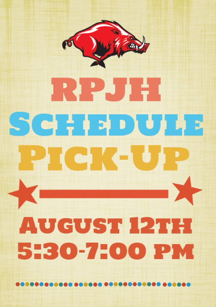 RPJH Schedule Pick-Up