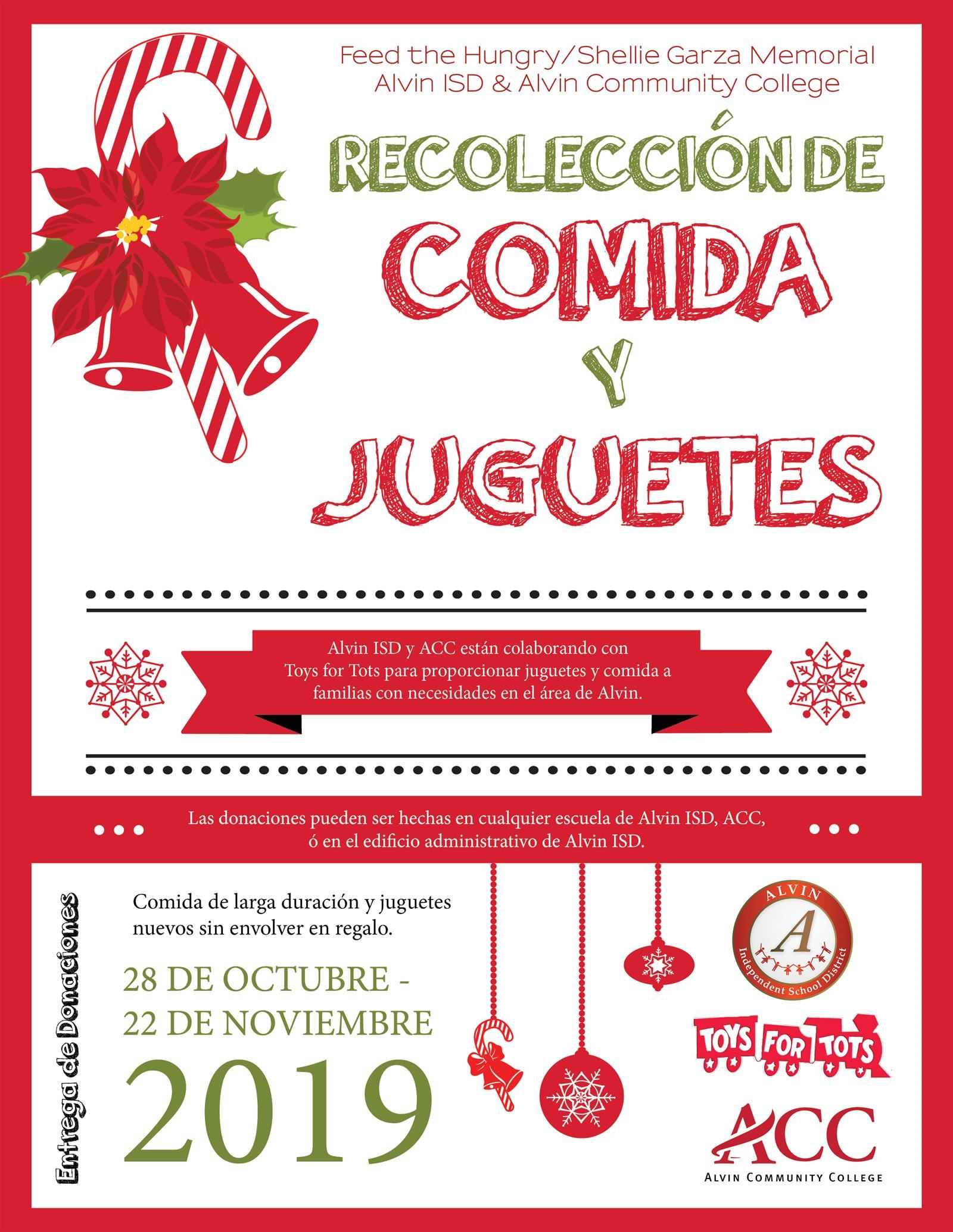 Food and Toy Drive Spanish