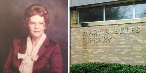 Mary B. Stiles + Library