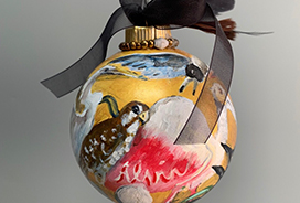 Alvin High School Art Teacher and student create beautiful ornament for the State House of Representative Christmas Tree