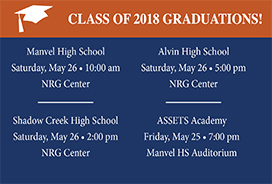 Class of 2018 Graduations & Streaming Links