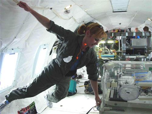 Dr M in microgravity