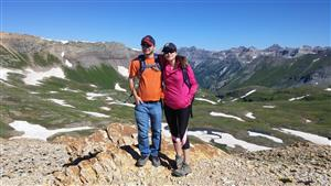 My husband & I in the San Juan Mountains