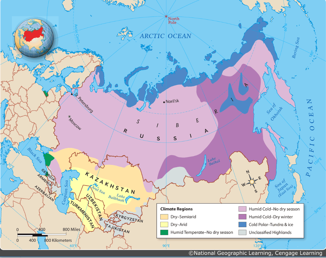 Russian Map Of Russia.Anderson Leslee Russia And Eurasian Republics