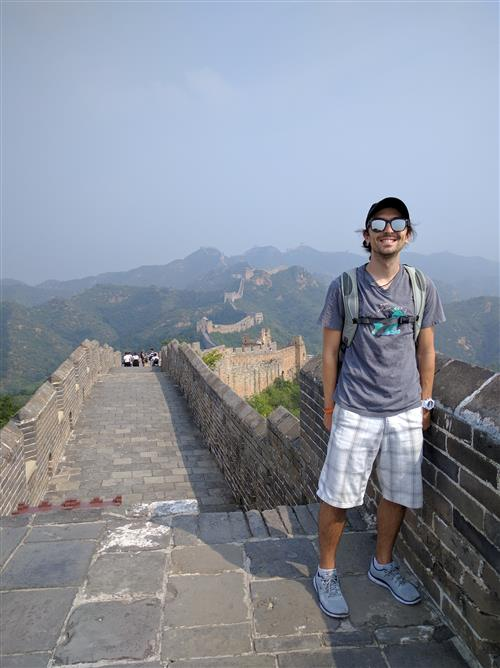 Me at the great wall of China!