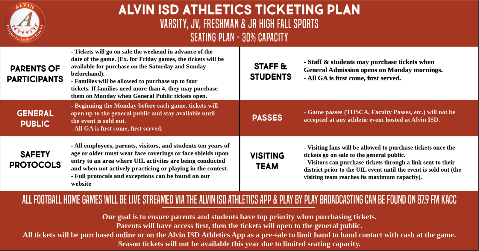 AISD Ticketing Plan