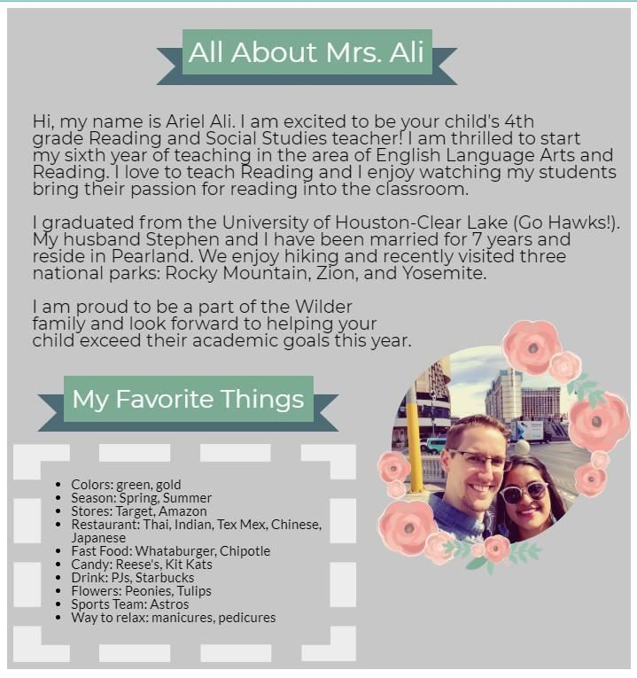 All About Mrs. Ali